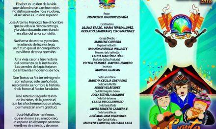 Programación Fiestas Institución Educativa Artemio Mendoza