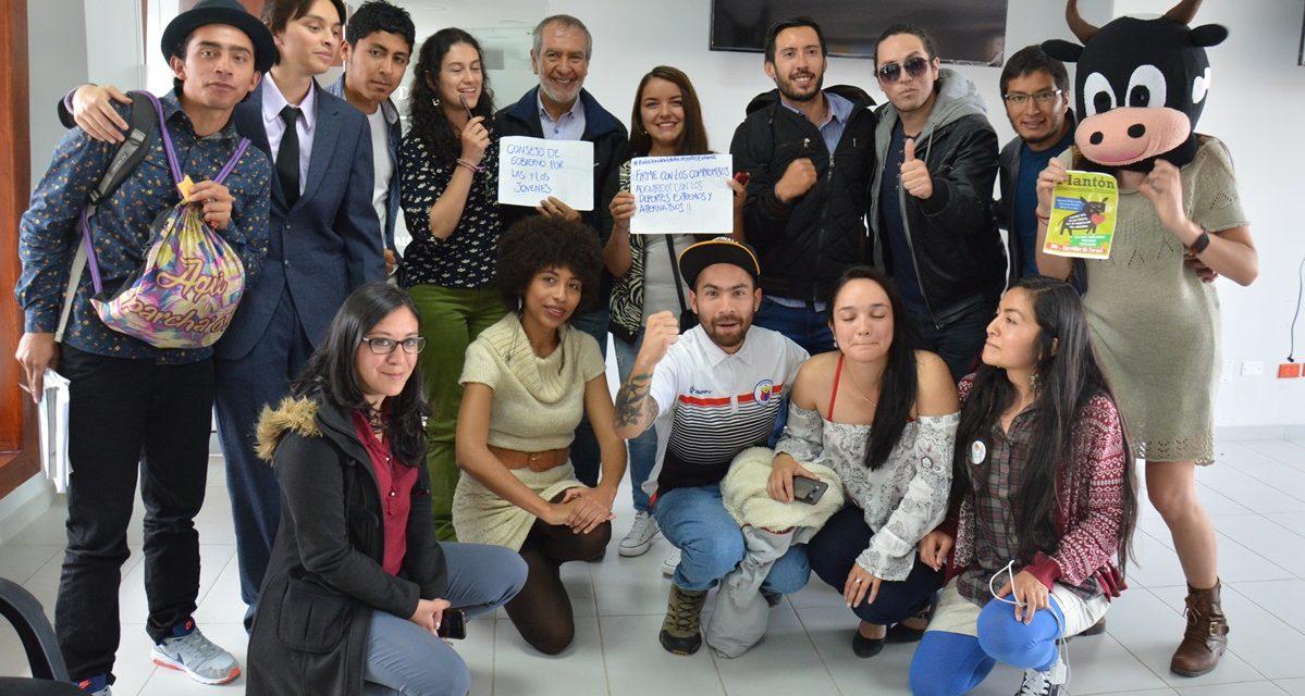 Alcalde de Pasto se Compromete con Plataforma Municipal de Juventud, a Sacar Adelante sus Iniciativas