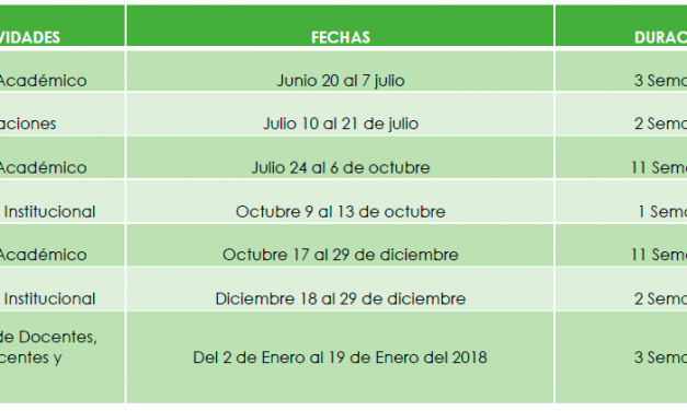 SECRETARIA DE EDUCACIÓN MUNICIPAL MODIFICA CALENDARIO ACADÉMICO 2017