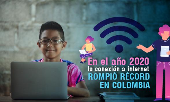 En el año 2020 la conexión a internet rompió récord en Colombia